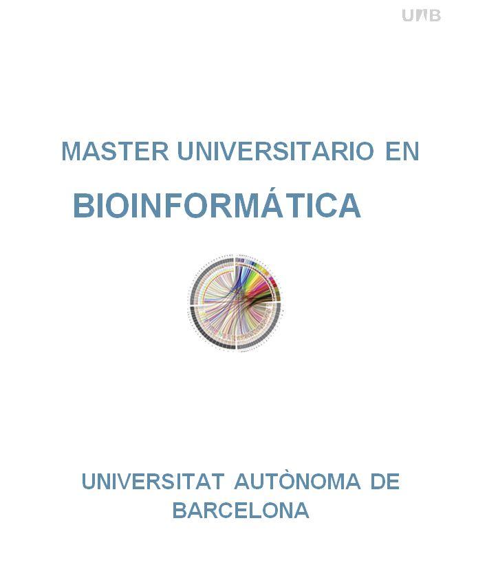 MSc in Bioinformatics Master in Bioinformatics Faculty